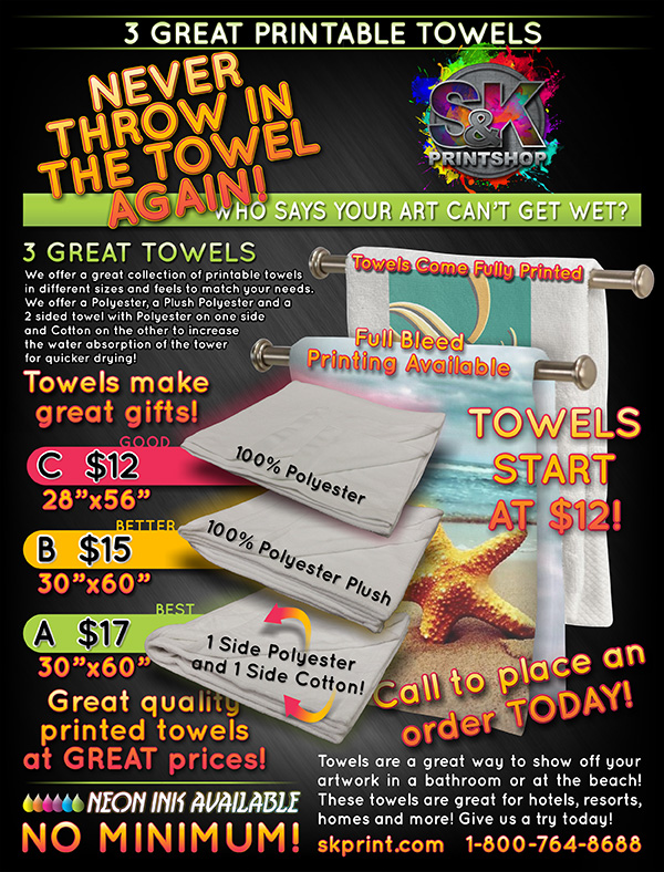 image about Printable Towels named Our 3 Printable Towels are a outstanding path towards spruce up a