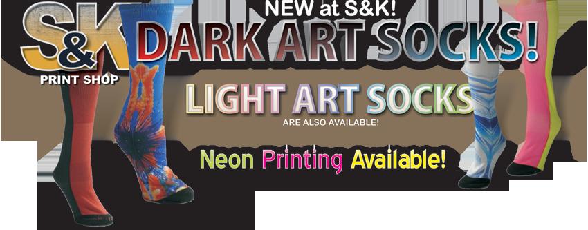 S&K Printshop - Dark Art Socks